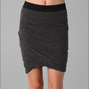 T by Alexander Wang Grey Tube Ruched Skirt
